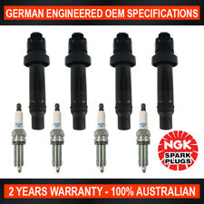 4x NGK Spark Plugs & 4x Swan Ignition Coils for Hyundai i30 i30cw G4FC
