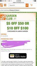 $5 Off $50 Or $10 Off $100- Home Depot Garden