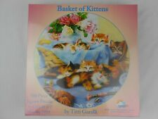 "Basket of Kittens 500 Piece Puzzle Garelli 19.25"" x 19.25"" NEW NIB"