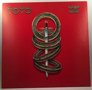 """TOTO IV 1982 CBS promo poster flat 12""""X12"""" VG condition"""