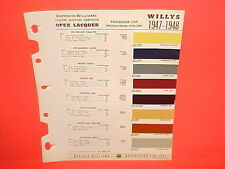 1947 1948 WILLYS JEEP CJ-2A 3A JEEPSTER PHAETON TRUCK STATION WAGON PAINT CHIPS