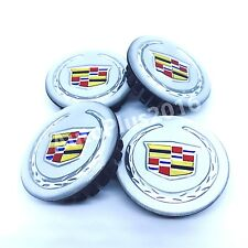 NEW CADILLAC SET 4 CENTER WHEEL WHEELS RIM RIMS HUB HUBS CAP CAPS 66MM Silver DT