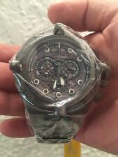 Invicta Subaqua Noma IV Black Stainless Steel. Grey Dial/Poly. Watch #11805 NIB