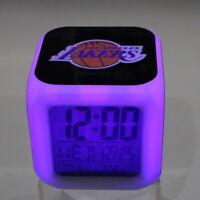 LOS ANGELES LAKERS LA LED Digital Alarm Clock Watch Lamp Decor Christmas Gift