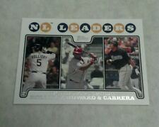 MATT HOLLIDAY, RYAN HOWARD, & MIGUEL CABRERA 2008 TOPPS