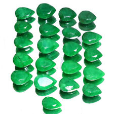 261 Cts Top Quality Natural Green Emerald Faceted Cut Gemstones lot 21 Pieces