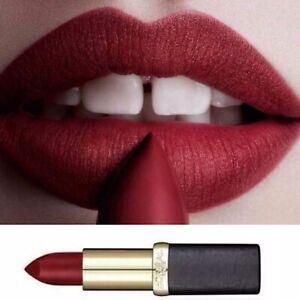 L'Oreal Deep Red Burgundy Lipstick Lip Stick Color Riche 349 Paris Cherry