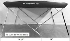 Bimini Top 7'6 Long Stainless Steel Frame - Sunbrella - You Pick The Color