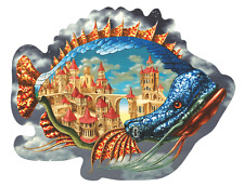 Wooden Jigsaw puzzle DaVICI Inhabited Fish 130pc Artist Victor Molev. NEW