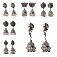 Vintage Bohemian Engrave Tassel Drop Dangle Ethnic Gypsy Earrings Indian Jewelry