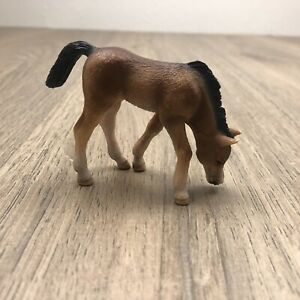 Schleich Grazing Foal In Nice Condition Brown Black