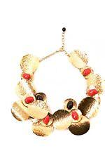 Karry o Hermoso Collar de cadena rota adoración Multi Capas De Oro Rojo BCF59