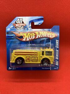 Hot Wheels Stars Fire Eater VHTF (YELLOW) SHORT CARD SEALED UNOPENED