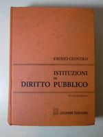 F171 ISTITUZIONI DI DIRITTO PUBBLICO 9 EDIZIONE FAUSTO CUOCOLO GIUFRè EDITORE 96