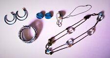 Stylish Retro Turquoise Jewelry 2 Necklace & 2 Earrings Sets 1 Bracelet Gorgeous