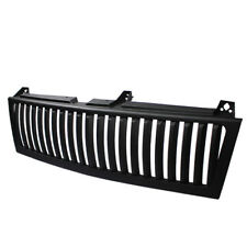 Chevy 99-02 Silverado Black Center 1 Piece Style Verticle Front Bumper Grille