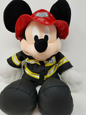 """DISNEY STORE 36CM 14"""" OFFICIAL MICKEY MOUSE FIREMAN RARE SOFT TOY PLUSH"""