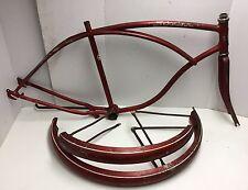 "1965 Schwinn Typhoon 26"" Cantilever Frameset Fork Red Fenders Middleweight Men's"
