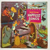 Walt Disney's Happiest Songs LP Vinyl Record Original 1967 Pressing