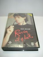 MICK JAGGER RUNNING OUT OF LUCK VHS VIDEO TAPE PAL FREE POSTAGE