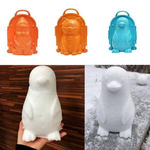 Cats Bear Penguin Santa Claus Winter Snow Mold Snowball Maker Cartoon Toy