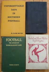 FOOTBALL: Super Collection of NINE Vintage Books 1910-74 - Intercollegiate Game+