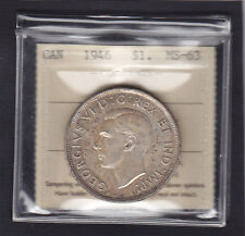 1946 SILVER DOLLAR - ICCS MS-63