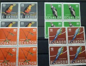 Nice Selection_Equador  blocks 4 x 4 MNH Very Fine RF/5182