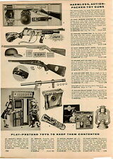 1957 PAPER AD Toy Guns Daisy Frontier Scout Mustang Machine Radio Flashlight