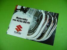 406KA2 Prospekt (um 1980): SUZUKI (GS, GSX 1000; GS 850, GSX 750, GS 550, 500..)
