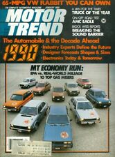 1980 Motor Trend Magazine: Top 10 Gas Misers/Car of the Decade/65-MPG VW Rabbit
