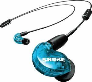 New SHURE SE215SPE Sound Isolating In-Ear Headphones Earphones IEM Earbuds, BLUE
