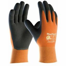 12 x MaxiTherm 30-201 Palm Coated Thermal Cold Temperature Work Gloves - Orange