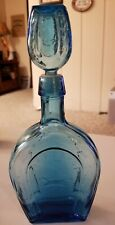 New listing Blue Horseshoe liquor decanter with stopper - Unknown Brand