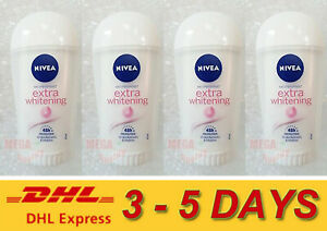 4 x NEW NIVEA EXTRA WHITENING CELL REPAIR DEODORANT STICK 40 ml.