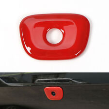 For 14 -16 Jeep Cherokee Tail Gate Rear Door Camera Hole Cover Moulding Trim Red