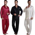Gifts Mens Silk Satin Pajamas Pyjamas Set Sleepwear S~4X Plus __Big and Tall