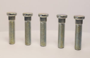 5 x M12 x 1.5 Replacement Wheel Studs, 14.3mm Spline, 50mm Thread