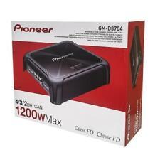 Pioneer Class D 4-channel Bridgeable Car Audio Speaker Amplifier?1200w?gm-d8704