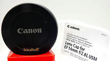 CANON LENS CAP FOR EF 14mm f/2.8 L USM - Made in Japan.  Open Package.