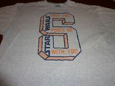 """Star Wars """"May The Force Be With You"""" Gray Graphic T-Shirt Men's Size XL P5"""