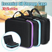 30 Bottles 10ml Essential Oil Travel Case Holder Storage Aromatherapy    P