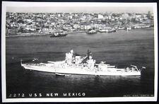 **1930's BATTLE SHIP  U. S. S.  NEW MEXICO  RPPC