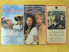 3 Best Picture Winner VHS: A Man for All Seasons, As Good As It Gets, Terms of E