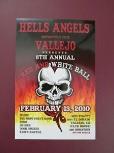 Hells Angels Vintage Vallejo 2010 Red & White Ball Flyer