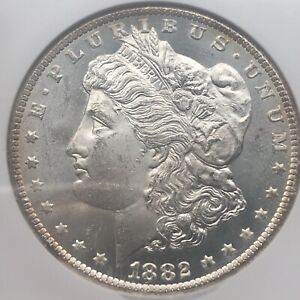 1882 CC NGC MS 64 Morgan Silver Dollar - Breathtakingly Flashy And Gorgeous Coin