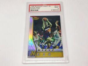 1996-97 Bowman's Best Rookie Refractors RC STEVE NASH PSA 9!!