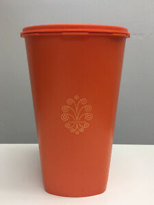 Vintage like newTupperware 1222-5 Orange Tall Storage Canister Container w/ Lid