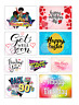 Rectangle Large Stickers Letterbox Postal Sweets Birthday Party Bag Cone Gift