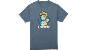 New Icon Freedom Spitter Motorcycle T-Shirt - Navy Heather